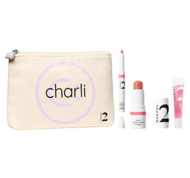 CHARLI'S GO-TO FAVES 3-PIECE MAKEUP SET + BAG