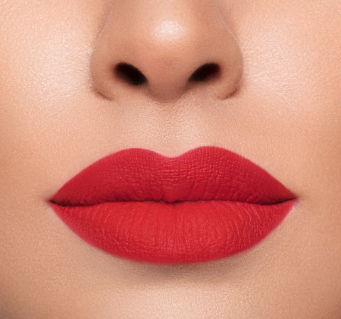 MEGA MATTE LIPSTICK – LOVER ON MODEL
