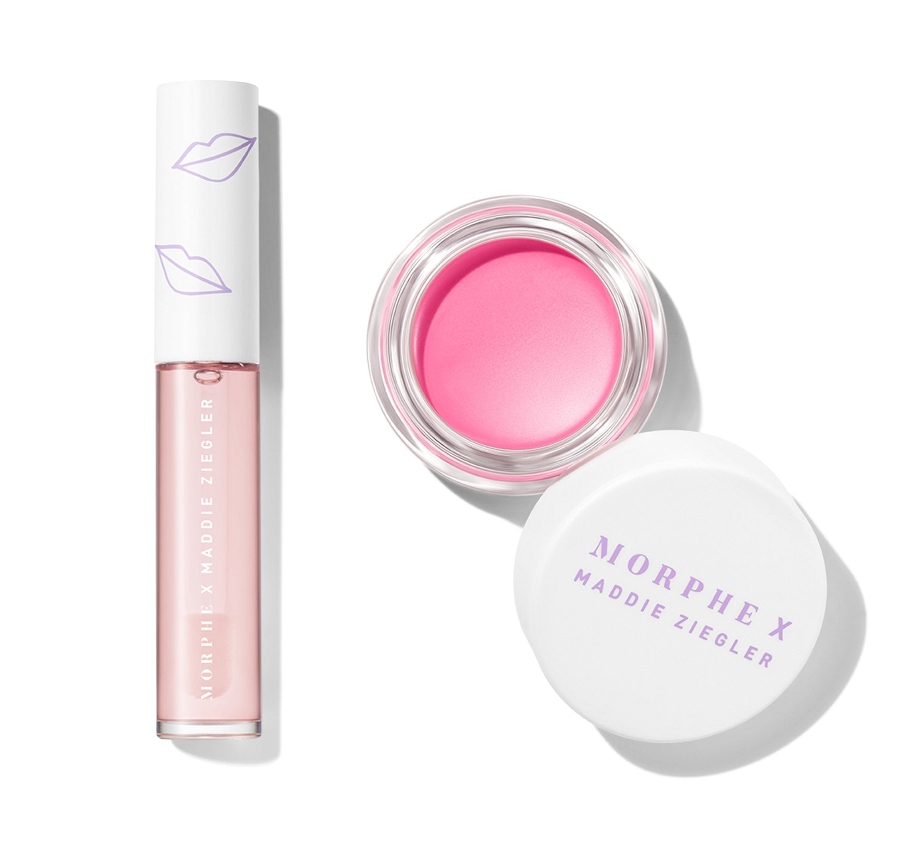 MORPHE X MADDIE ZIEGLER PINK ABOUT IT LIP & CHEEK DUO, view larger image