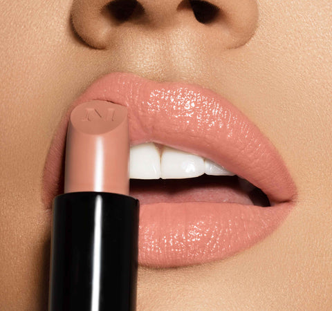 OUT & A POUT BLUSHING NUDE LIP TRIO ON MODEL
