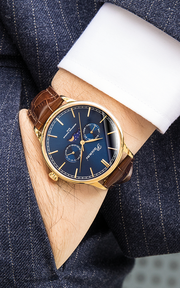 Moonphase Blue Gold
