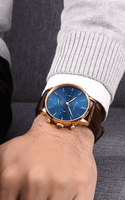 Chronograph Blue Gold - Nato Blue Green
