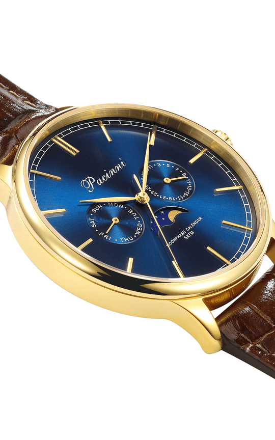 Moonphase Blue Gold Mesh