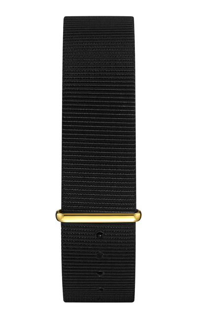 Black Nylon Strap 20 mm - Gold