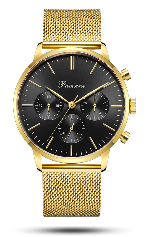 Chronograph Black Gold Mesh