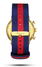 Chronograph Blue Gold - Nato Blue Red