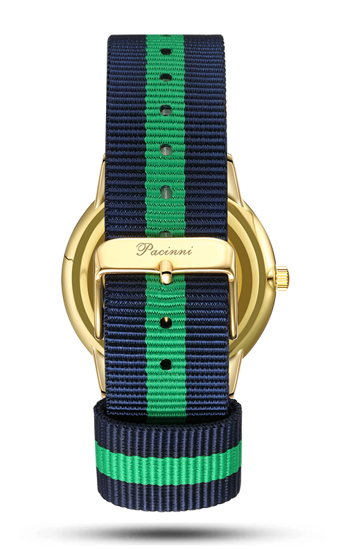 Classic Black Gold - Nato Blue Green