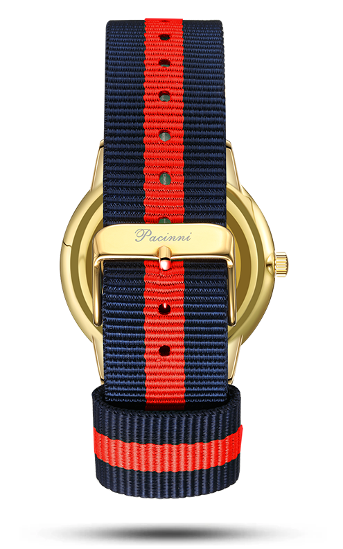 Classic Black Gold - Nato Blue Red