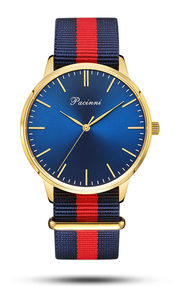 Classic Blue Gold - Nato Blue Red