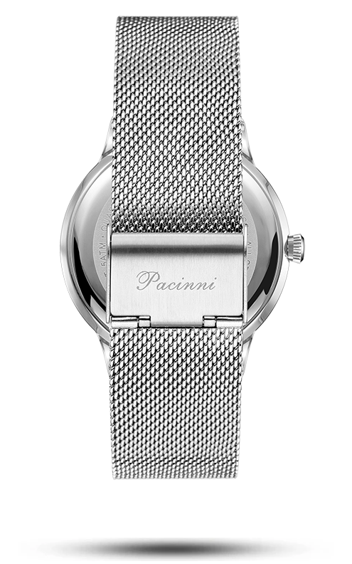 Moonphase Blue Silver Mesh