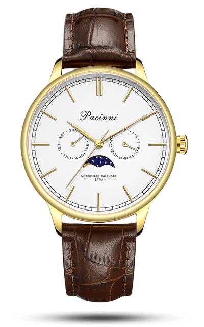 Moonphase White Gold