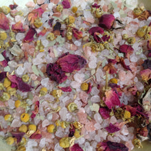 Load image into Gallery viewer, WATER Botanical Bath Soak ~ Rose Vanilla Sage Myrrh