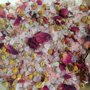 WATER Botanical Bath Soak ~ Rose Vanilla Sage Myrrh