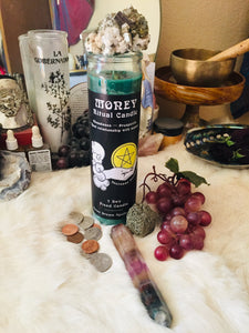 MONEY Ritual Candle ~ 7 Day Fixed Candle ~ Abundance ~ Prosperity ~ Heal Relationship with Money