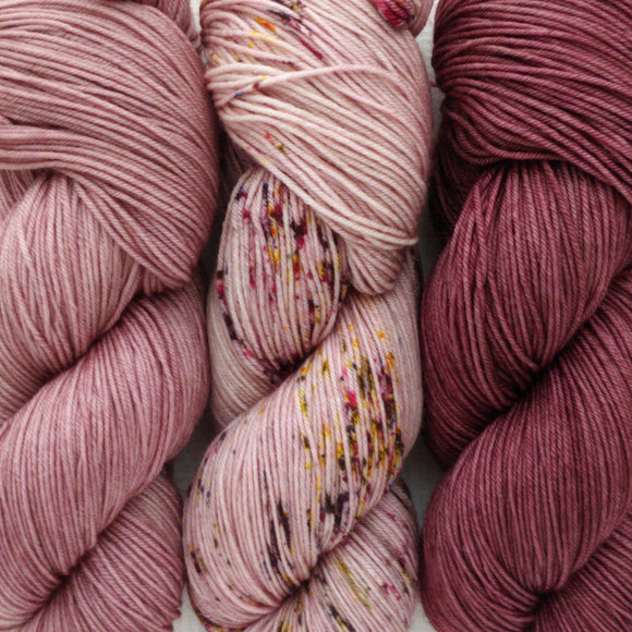 SECRET GARDEN // 3 SKEIN SET // Hand Dyed Yarn