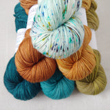 SEVEN SEAS // Hand Dyed Yarn // Speckle Yarn