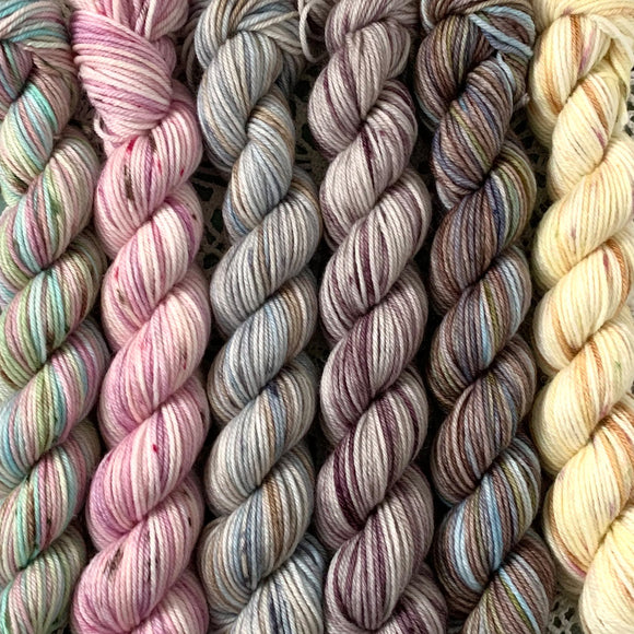 KINDRED SPIRITS - BITE-SIZE MINIS COLLECTION // Hand Dyed Yarn // Variegated/Speckled Yarn
