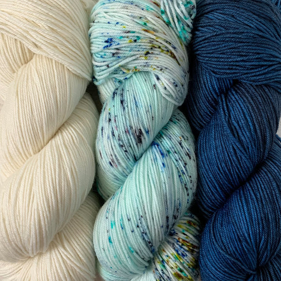 SEVEN SEAS // 3 SKEIN SET // Hand Dyed Yarn