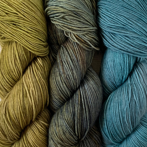 STORM CHASER // 3 SKEIN SET // Hand Dyed Yarn