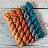 PATINA // Bite-Size Mini Set of 5 // Hand Dyed Yarn