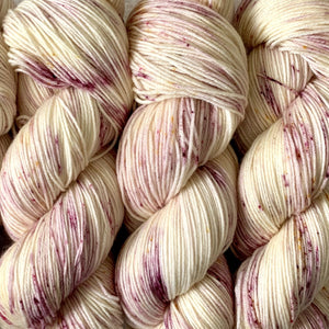 BERRY SCONE // Hand Dyed Yarn // Speckled Variegated Yarn