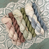 APPETIZER SOCK SETS - 50g Half Skein w/ Coordinating 25g Mini
