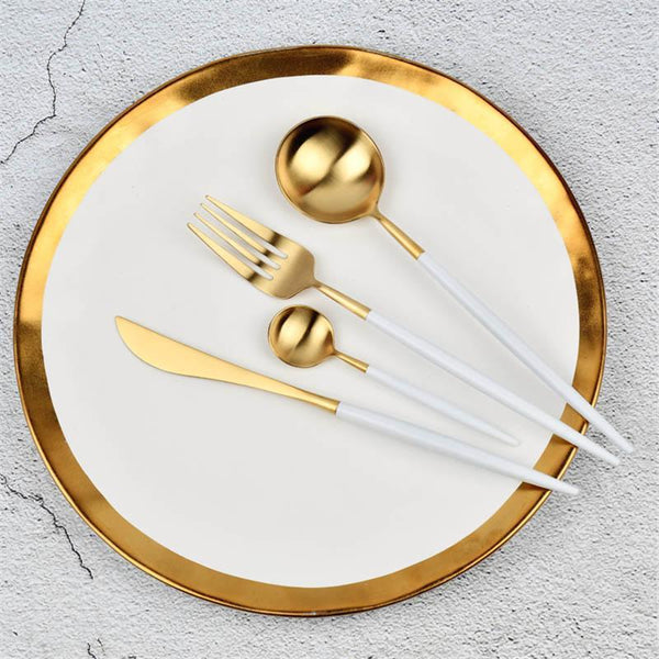 1 PC Modern White Cutlery Set-Eurecah