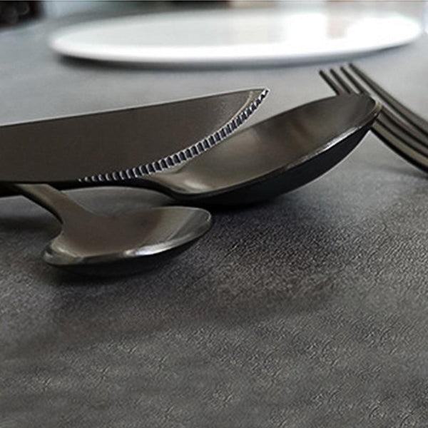 4PC Minimalist Black Cutlery Set-Eurecah