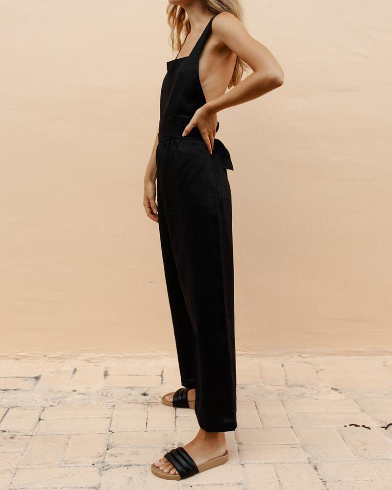 Cross Linen Jumpsuit