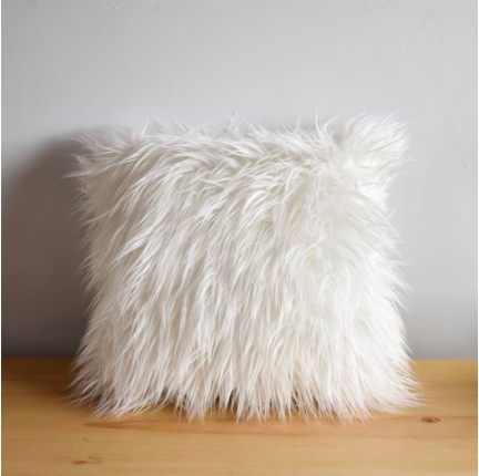 Long Faux Fur Cushion-Eurecah