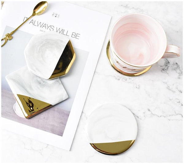 Marble Ceramic Placemat & Coasters-Eurecah