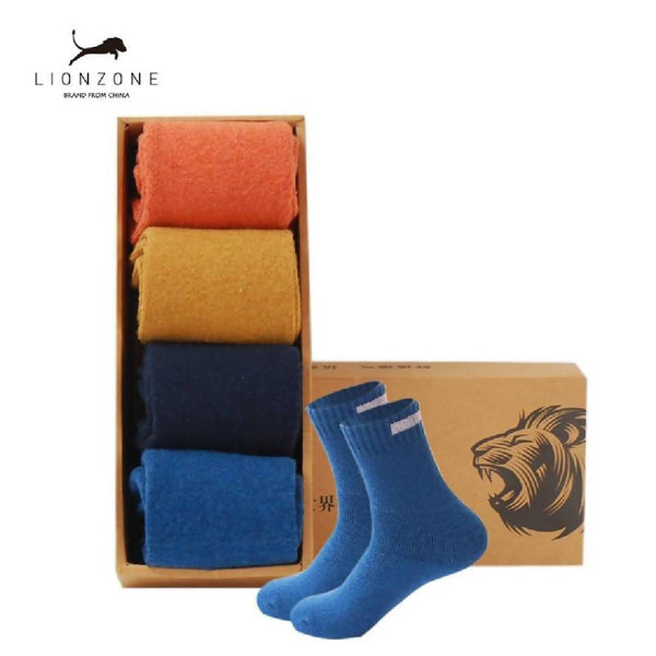 Men's 4 Pack Thick Wool Socks-Eurecah