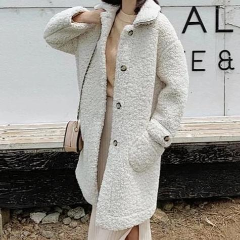 Faux Lamb Wool Teddy Coat