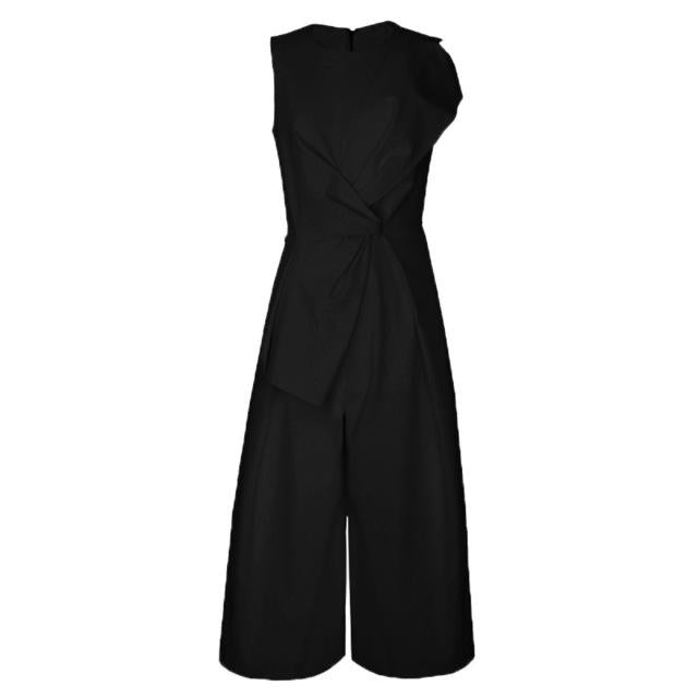 Sleeveless Wide Leg Jumpsuit-Eurecah