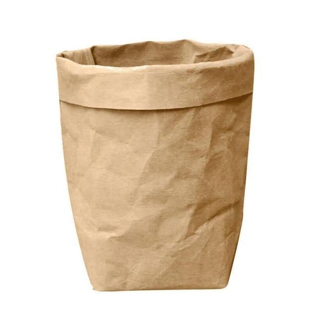 Washable Kraft Paper Storage Bag-Eurecah