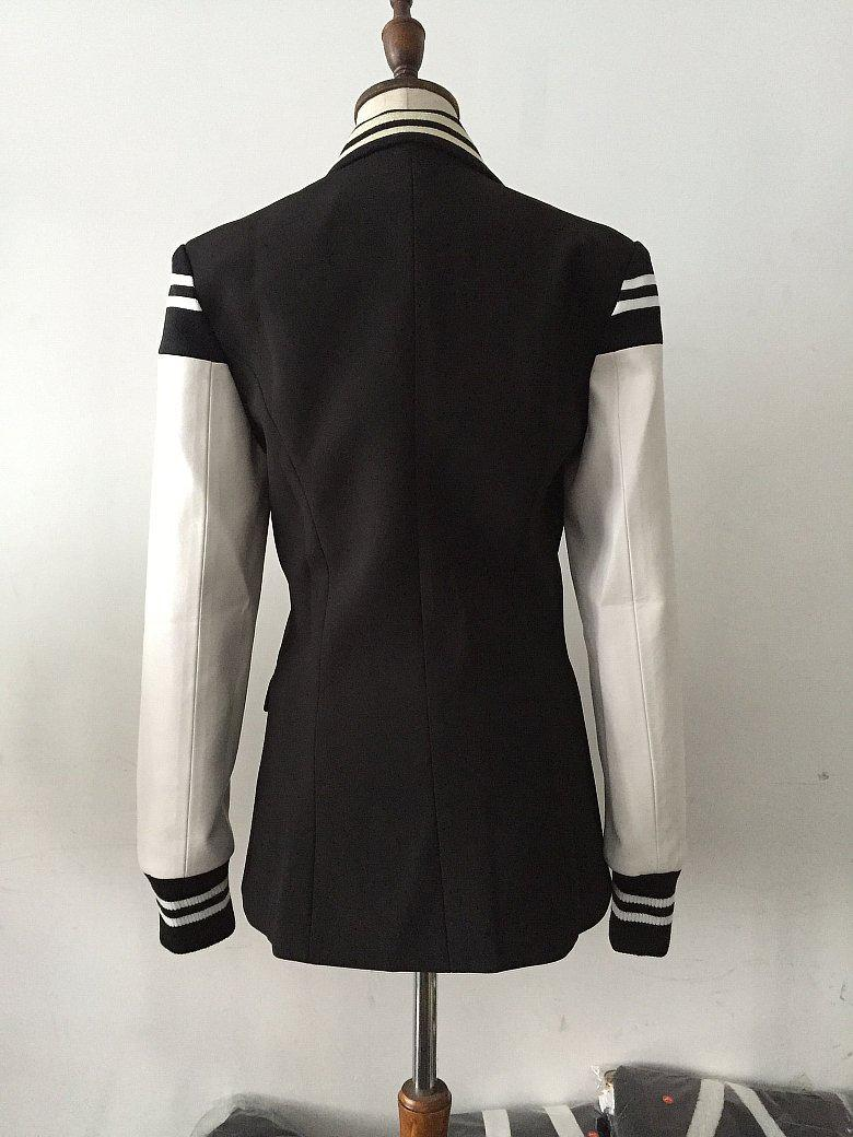Women Fitted Double Breasted Blazer With Metal Buttons-Eurecah