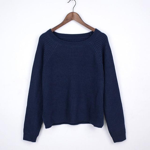 Women Ribbed Sweater-Eurecah