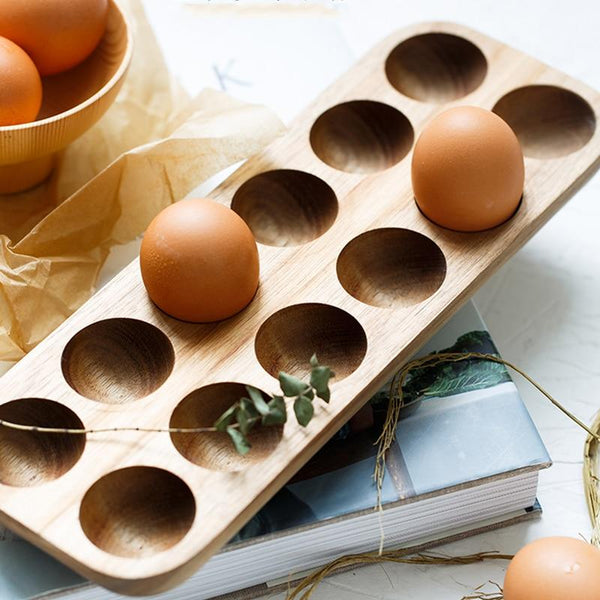 Wooden Double Row Egg Storage Box-Eurecah
