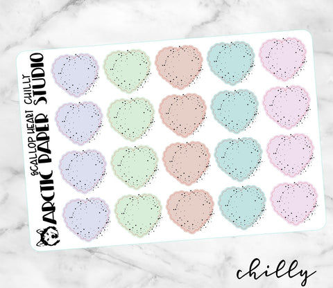 Scallop Heart Colourway - CHILLY NO ICONS