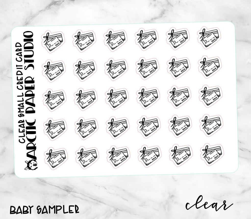 *CLEAR* Small Icons - CREDIT CARD