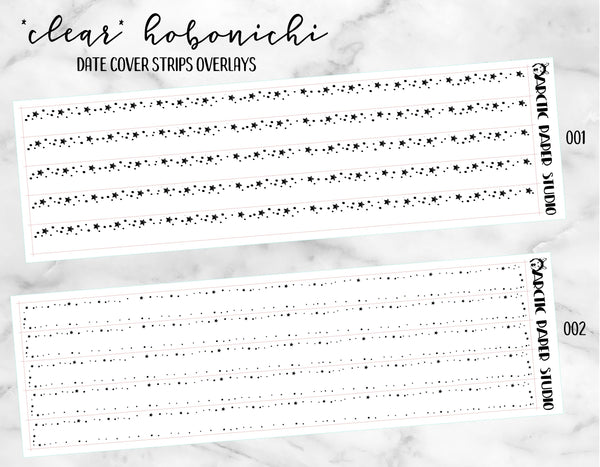 *CLEAR* Hobonichi Date Cover Strips
