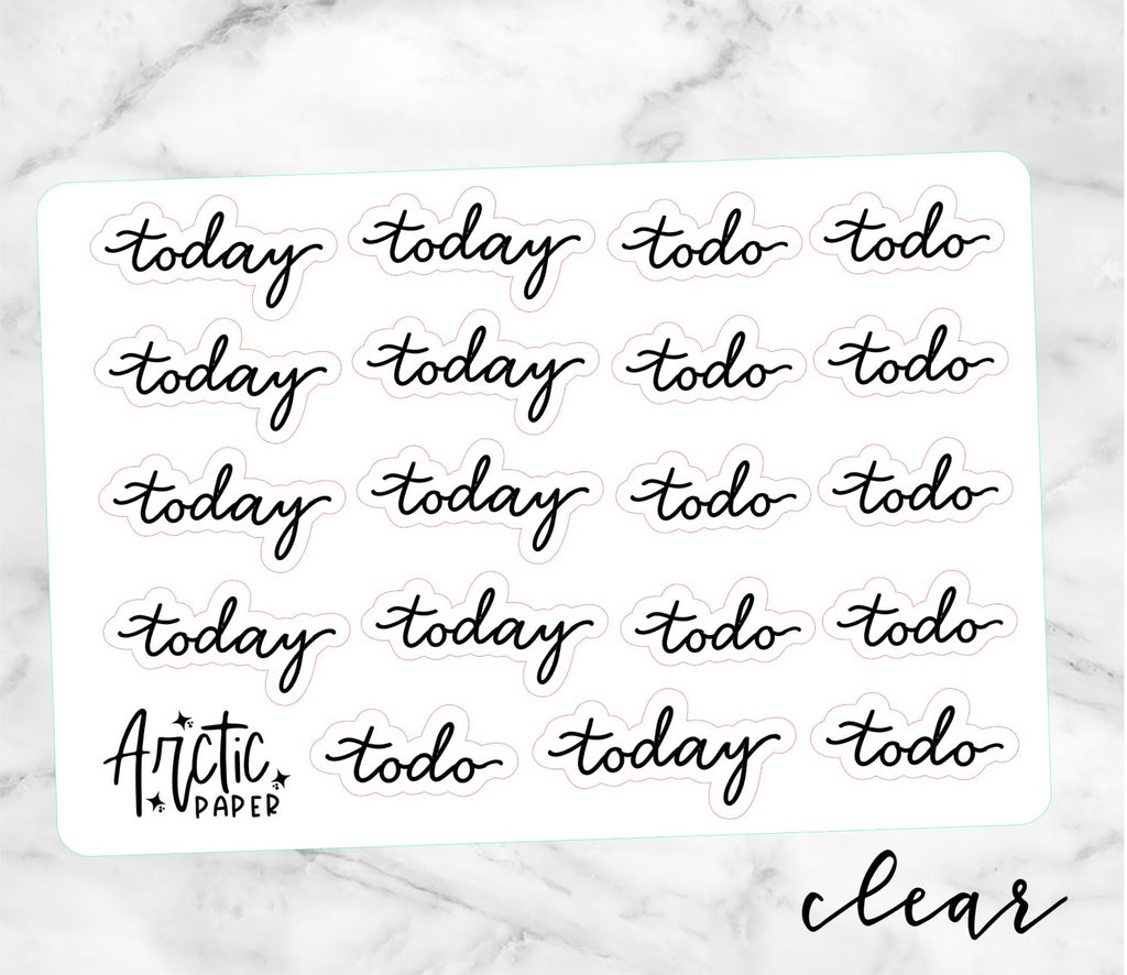 *CLEAR*  Today/Todo (CE)