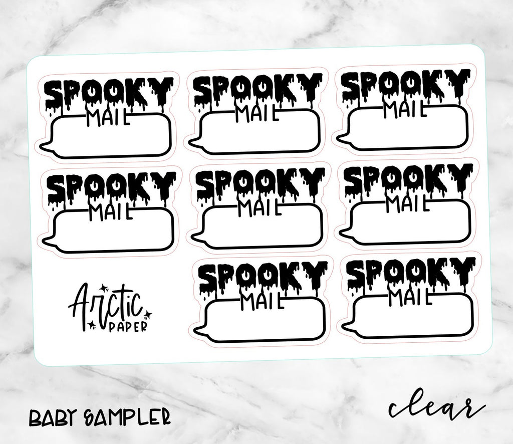 *CLEAR* GOTH - SPOOKY MAIL