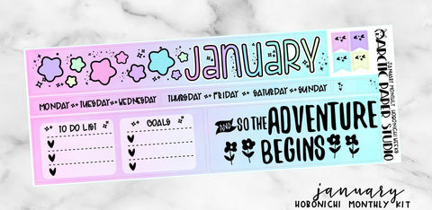 Hobonichi Weeks Monthly - JANUARY