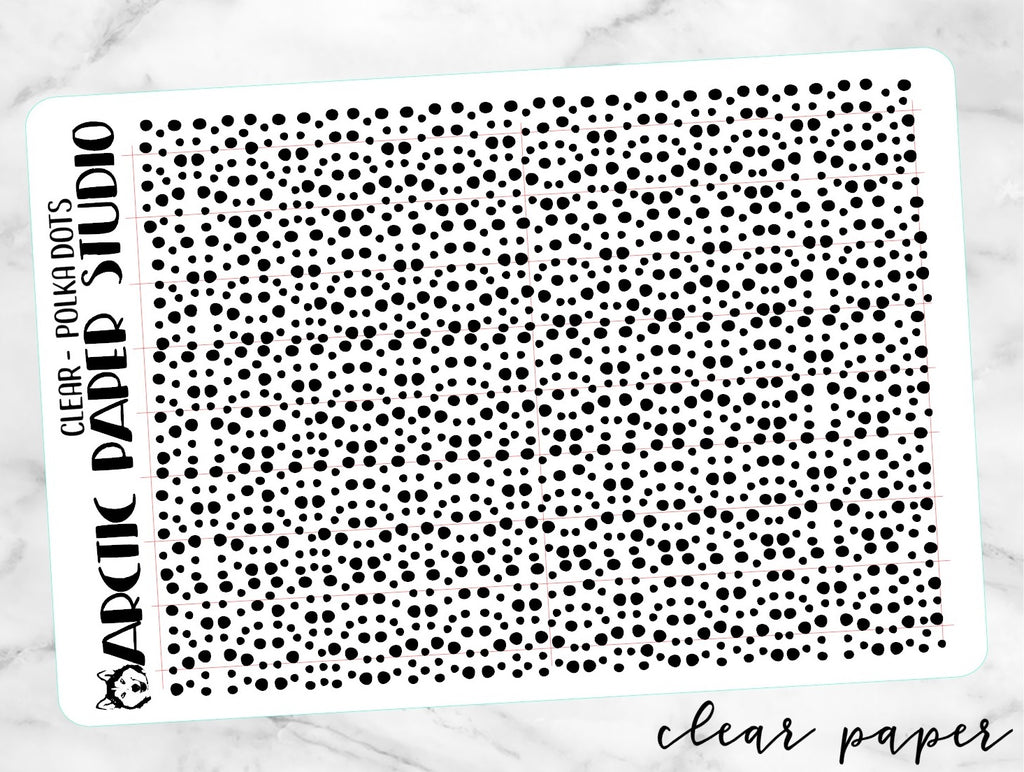 *CLEAR* OVERLAY Confetti Polka Dot NEW