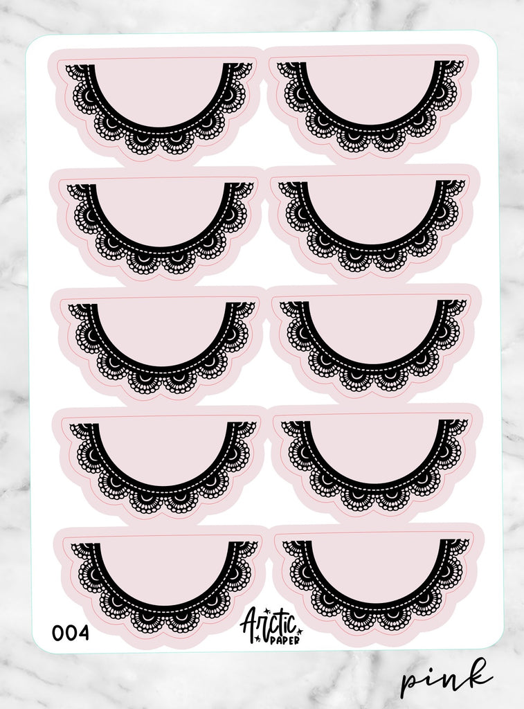 SCALLOPED Decorative - 004 Pink