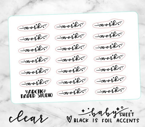 *CLEAR* WORK *** Sprinkle Script - BABY SIZE