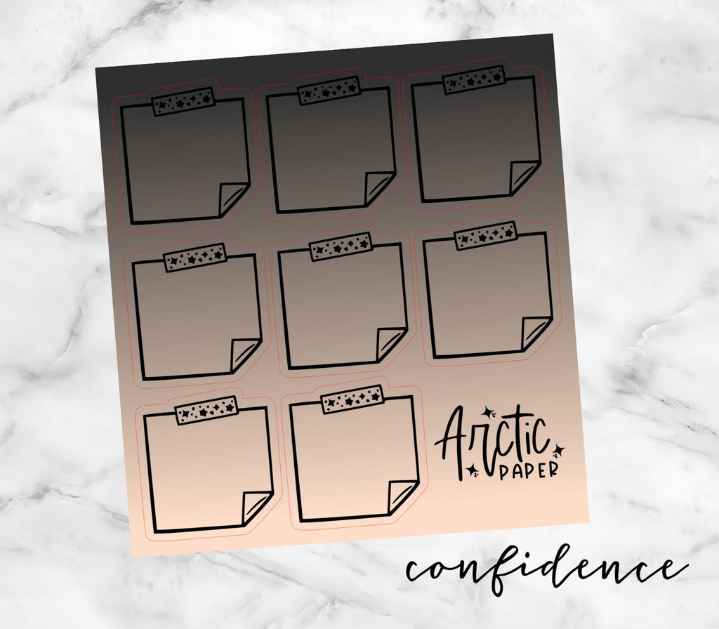 Sticky Notes - Confidence