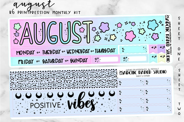 B6 Monthly - Print Pression AUGUST