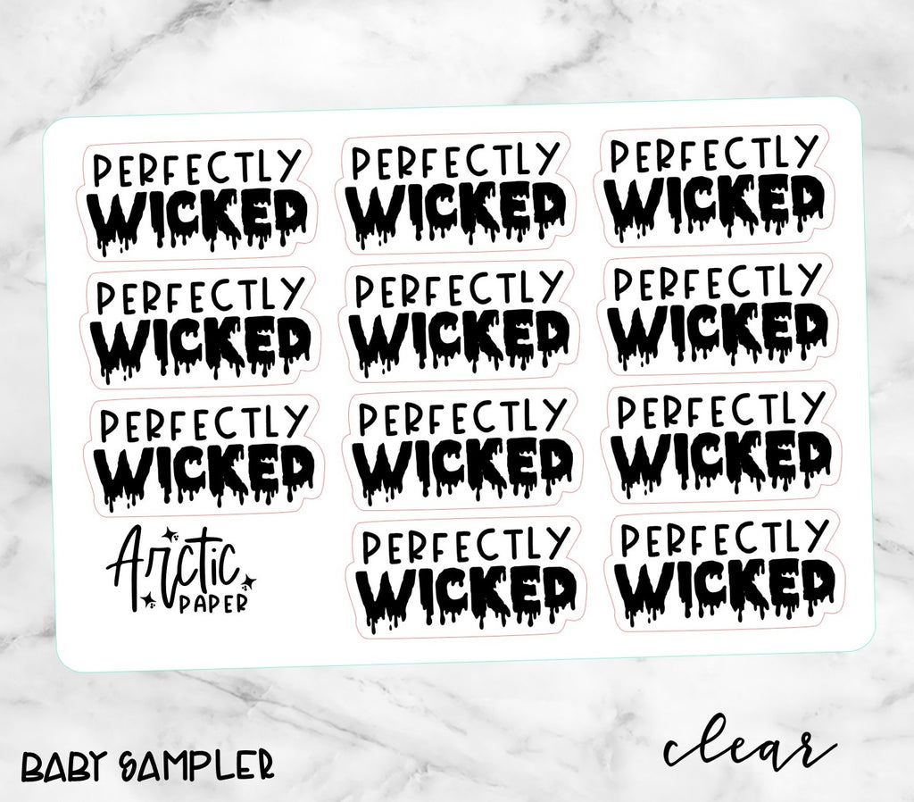 *CLEAR* GOTH - PERFECTLY WICKED